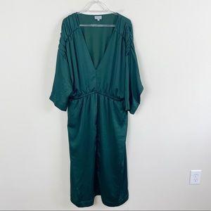 Anthropologie The Odells Regency Green Satin Dress